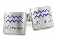 Aquarius Horoscope Cufflinks