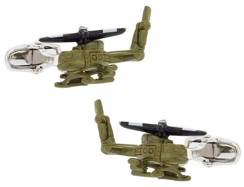 Army Helicopter Cufflinks