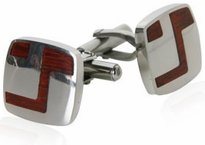 Artistic Wood Cufflinks