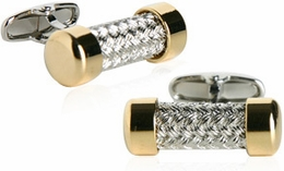 Austrian Gold Cap Pipe Cufflinks