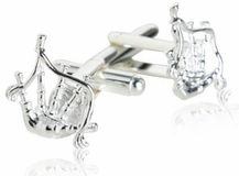 Bagpipe Cufflinks Sterling Silver