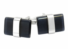 Banded Black Cufflinks