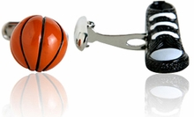 Basketball Cufflinks in 3D
