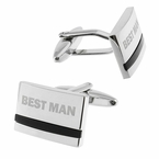 Best Man Cufflinks with Onyx