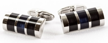 Black Blue Glass Cufflinks