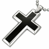 Black Cross pendant (necklace not Incl.)