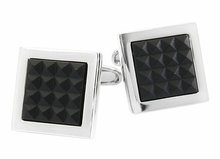 Black Crystal Grid Cufflinks