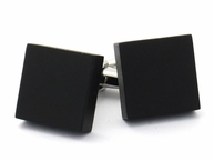 Black Square Modern Cufflinks