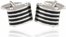 Black Enamel Blinds Cufflinks