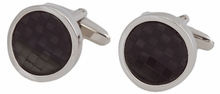 Black Fiber Optic Wave Cufflinks