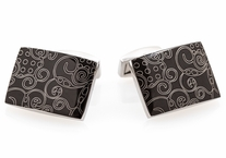 Black Stainless Steel Cufflinks Art