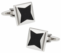 Black Starburst Cufflinks