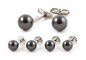 Black Swarovski Pearl Formal Set