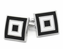 Black White Bullseye Cufflinks