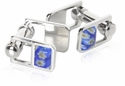 Blue Cufflinks with Hinge