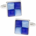 Blue Fiber Optic Cufflinks