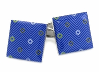 Blue Flowers Cufflinks