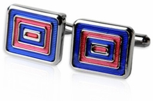 Blue & Red Enamel Cufflinks