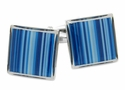 Blue Series Striped Cufflinks
