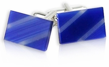 Blue Slash Cufflinks