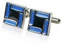 Blue Square Enamel Cufflinks