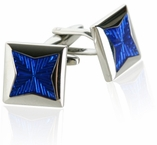 Blue Starburst Cufflinks