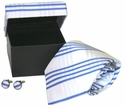 Blue Stripes Summer Tie