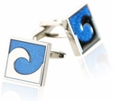 Blue Wave Cufflinks
