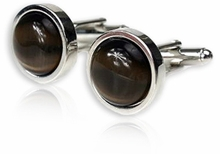 Bold Brown Cufflinks