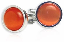 Bold Orange Cufflinks