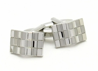 Bowed Checkerboard Cufflinks