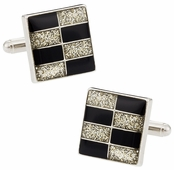 Brickwall Diamond Dust Cufflinks