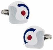 British Air Force Roundel Helmet Cufflinks