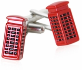 British Red Booth Cufflinks