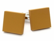 Brown Modern Square Cufflinks