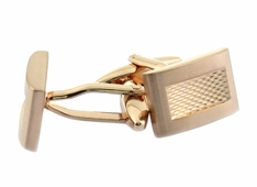 Brushed Burnout Rose Gold Cufflinks