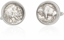 Buffalo Nickel Coin Cufflinks