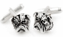 Bulldog Cufflinks in Sterling Silver