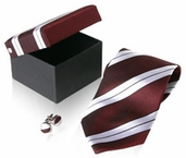Burgandy Striped Tie (DISCONTINUED)