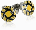 Business Yellow Cufflinks