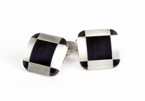Butler Black White Cufflinks