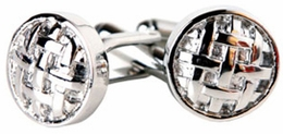 Button Cufflinks of Silver Cufflinks