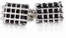 Caged Black Cufflinks