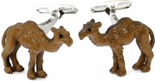 HUMP DAY Camel Cufflinks Hand Painted