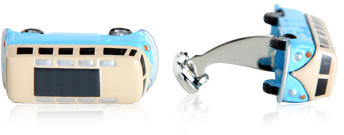 Camper Bus Cufflinks Blue