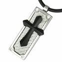 Carbon Fiber Cross pendant (necklace not included)