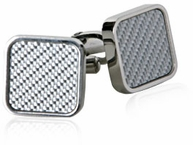 Light Square Carbon Fiber Cufflinks