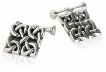Celtic Knot Cufflinks in Sterling Silver
