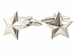 Colonial Silver Star Cufflinks