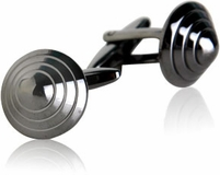 Conical Cufflinks in Gun Metal